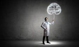 Conceito da neurociência e da pesquisa do cérebro imagem de stock royalty free