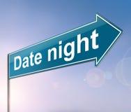 Conceito da noite da data Imagens de Stock
