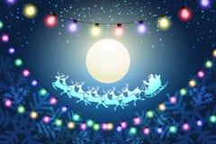 Conceito da noite de Natal ilustração do vetor