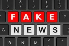 Conceito da notícia da falsificação do teclado de computador Imagem de Stock Royalty Free