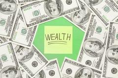 Conceito da notação da riqueza Imagem de Stock Royalty Free