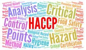 Conceito da nuvem da palavra de HACCP ilustração stock