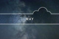 Conceito da nuvem da palavra de MAIO Fundo do espaço Imagens de Stock Royalty Free