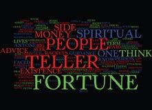 Conceito da nuvem da palavra do fundo do texto do caixa de fortuna ilustração stock