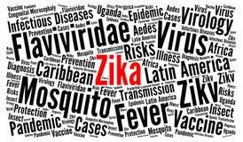 Conceito da nuvem da palavra do vírus de Zika Fotografia de Stock