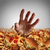 Conceito da obesidade ilustração stock