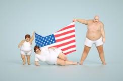Conceito da obesidade dos E.U. ilustração stock