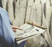 Conceito da oficina de Handmade Artist Showroom do artesão imagem de stock