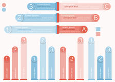 Conceito da opção do gráfico de Infographic Imagem de Stock Royalty Free