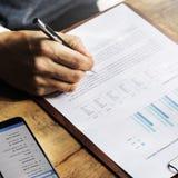 Conceito da operação bancária da contabilidade do financiamento do negócio fotos de stock royalty free