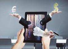 Conceito da operação bancária de Digitas Imagem de Stock