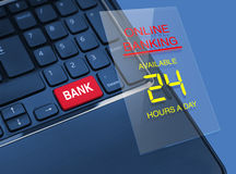 Conceito da operação bancária em linha Fotografia de Stock Royalty Free