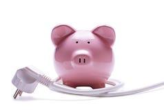 Conceito da operação bancária em linha e das economias imagens de stock royalty free