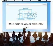 Conceito da operação da estratégia do plano de negócios imagem de stock