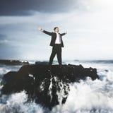 Conceito da organização de Depression Problem Risk do homem de negócios foto de stock royalty free