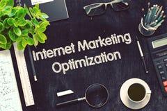 Conceito da otimização do mercado do Internet 3d rendem Imagem de Stock