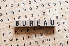 Conceito da palavra de Burreau foto de stock