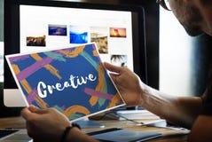 Conceito da palavra de Ideas Creative Imagine do artista fotos de stock