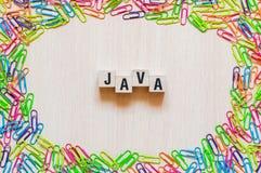 Conceito da palavra de Java imagens de stock