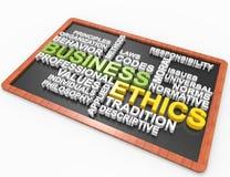 Conceito da palavra do ética comercial 3d Foto de Stock