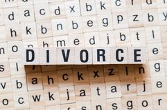 Conceito da palavra do divórcio fotos de stock royalty free