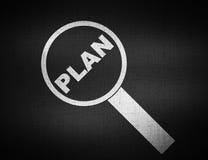 Conceito da palavra do plano 3d Fotografia de Stock Royalty Free