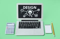 Conceito da palavra dos ícones do desenvolvimento das ideias Fotos de Stock
