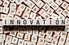 Conceito da palavra da inova??o imagem de stock royalty free