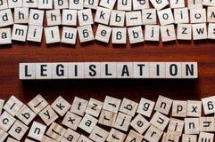 Conceito da palavra da legislação imagens de stock royalty free