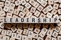 Conceito da palavra da lideran?a foto de stock