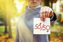 Conceito da paridade do gênero Imagem de Stock