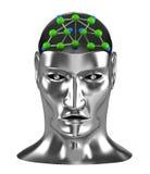 Conceito da parte dianteira da rede Neural Fotografia de Stock Royalty Free