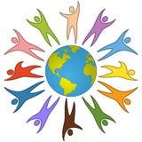 Conceito da paz dos povos do mundo ilustração do vetor