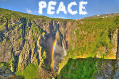 Conceito da paz e da esperança Foto de Stock Royalty Free