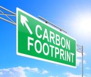 Conceito da pegada do carbono. Fotografia de Stock Royalty Free