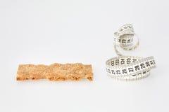 Pão e fita de medição Foto de Stock Royalty Free