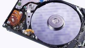 Conceito da perda dos dados da movimentação de disco rígido (hdd) video estoque