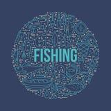 Conceito da pesca Fotografia de Stock