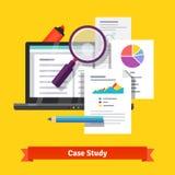 Conceito da pesquisa do estudo de caso ilustração do vetor