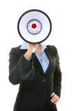 Conceito da pessoa do negócio do megafone Imagem de Stock