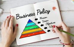 Conceito da pirâmide da ação da política de negócio Foto de Stock Royalty Free