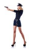 Conceito da polícia da mulher Fotografia de Stock