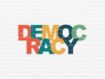 Conceito da política: Democracia no fundo da parede ilustração royalty free