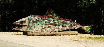 Conceito da poluição de água Fotos de Stock