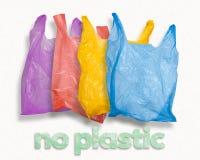 Conceito da poluição do ambiente do saco de plástico fotos de stock royalty free