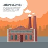 Conceito da poluição do ar Imagem de Stock
