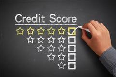 Conceito da pontuação de crédito foto de stock