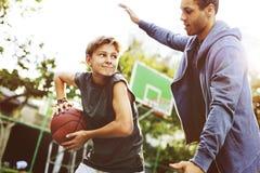 Conceito da prática de Sport Exercise Skill do atleta do basquetebol Fotografia de Stock