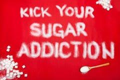 Conceito da prevenção do apego do açúcar foto de stock royalty free