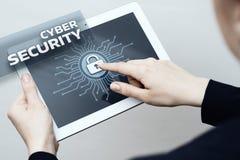 Conceito da privacidade da tecnologia do negócio da proteção de dados da segurança do Cyber Fotos de Stock